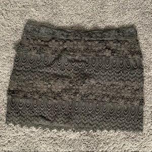 American Eagle grey lace mini skirt